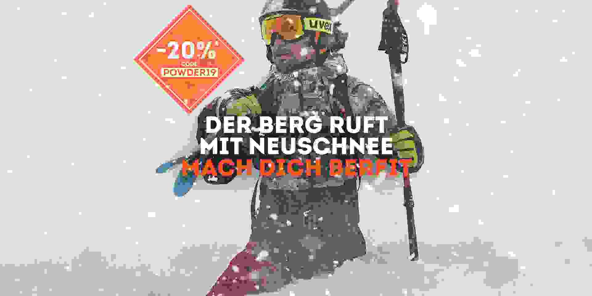 Wintersale Aktion 20 Prozent auf Winterartikel