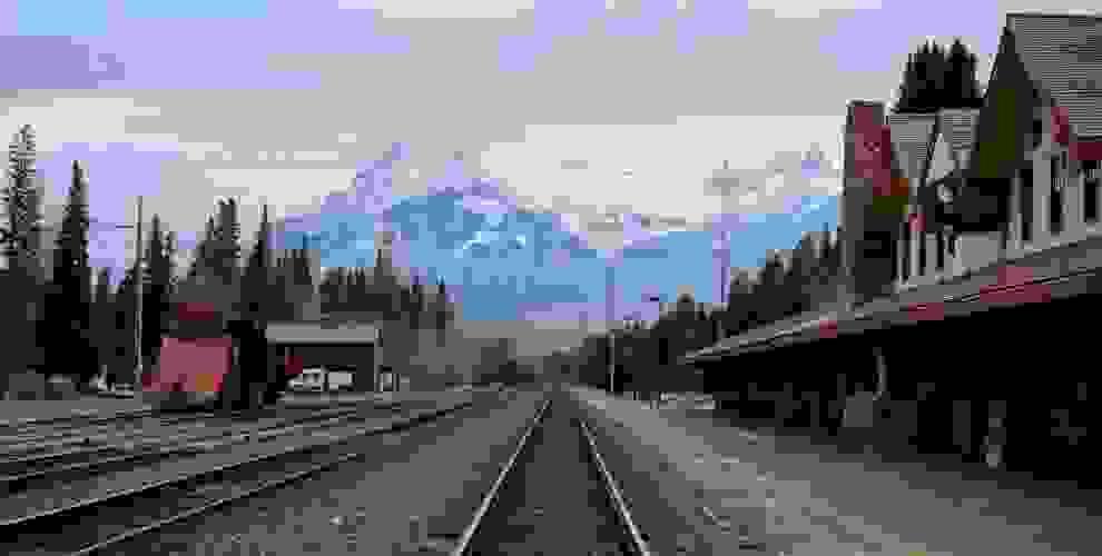 Der Bahnhof von Alberta in Kanada.