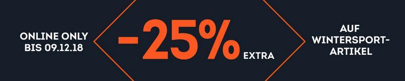 25% auf ausgewählte Wintersportartikel