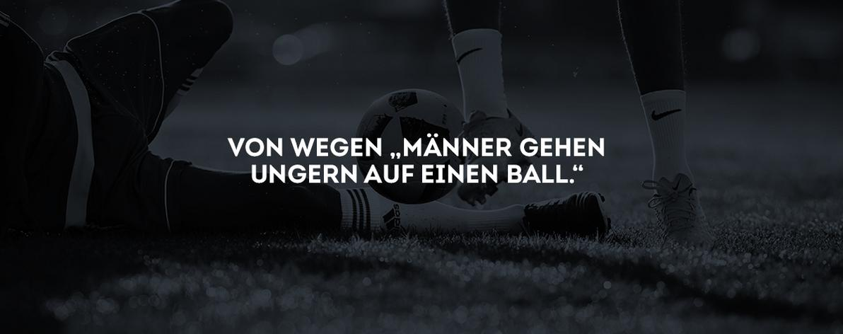 Fußball WM Kampagne Claim