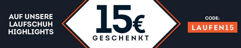 15 Euro auf unsere Laufschuh-Highlights geschenkt