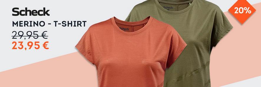 Scheck Merino-Shirts zum Top Preis