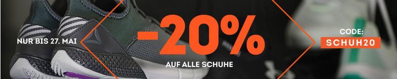 20% auf alle Schuhe