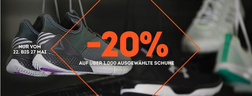 20% auf ausgewählte Schuhe