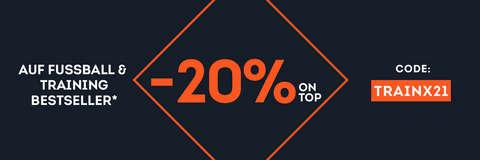 20% on top auf Fußball & Training Bestseller