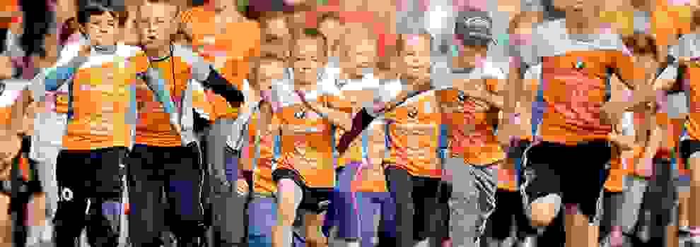 Auch die Kinder kommen beim Chemnitz Stadtlauf von SportScheck voll auf ihre Kosten.