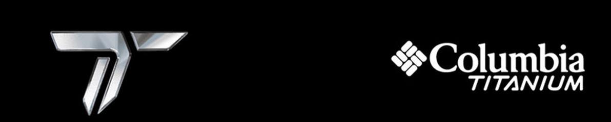 Das Markenlogeo von Columbia Titanium in weißer Schrift auf schwarzem Grund.