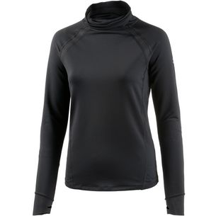 Under Armour Coldgear Reactor Run Laufshirt Damen BLACK/BLACK/REFLECTIVE
