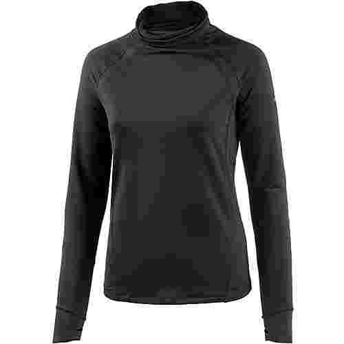 Under Armour Coldgear Reactor Run Laufshirt Damen BLACK/BLACK/REFLECTIVE