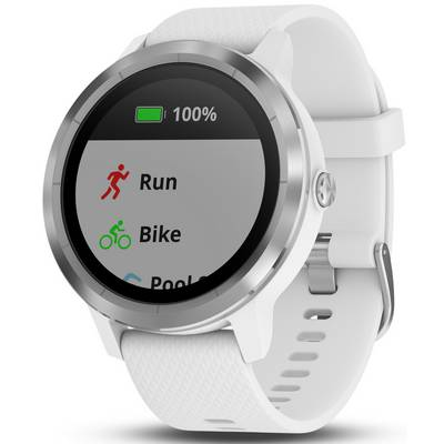 garmin vivoactive 3 sportuhr wei silber im online shop. Black Bedroom Furniture Sets. Home Design Ideas