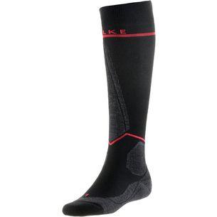 Falke SK Energizing Women Skisocken Damen black-neon red