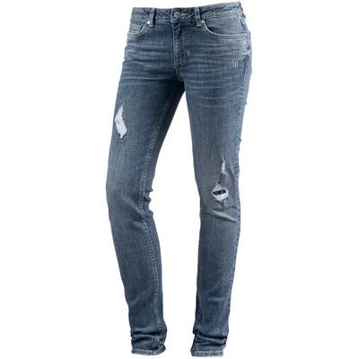 TOM TAILOR Skinny Fit Jeans Damen mid stone wash denim