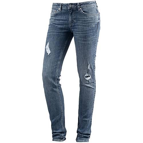 TOM TAILOR Skinny Fit Jeans Damen mid stone wash denim
