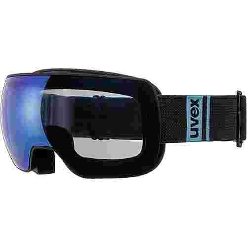 Uvex compact FM Skibrille black mat blue