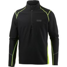 Gore Essential Thermo Laufshirt Herren black/neon yellow