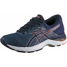 ASICS GEL-FLUX 5 Laufschuhe Damen smoke blue-canteloupe-peacoat