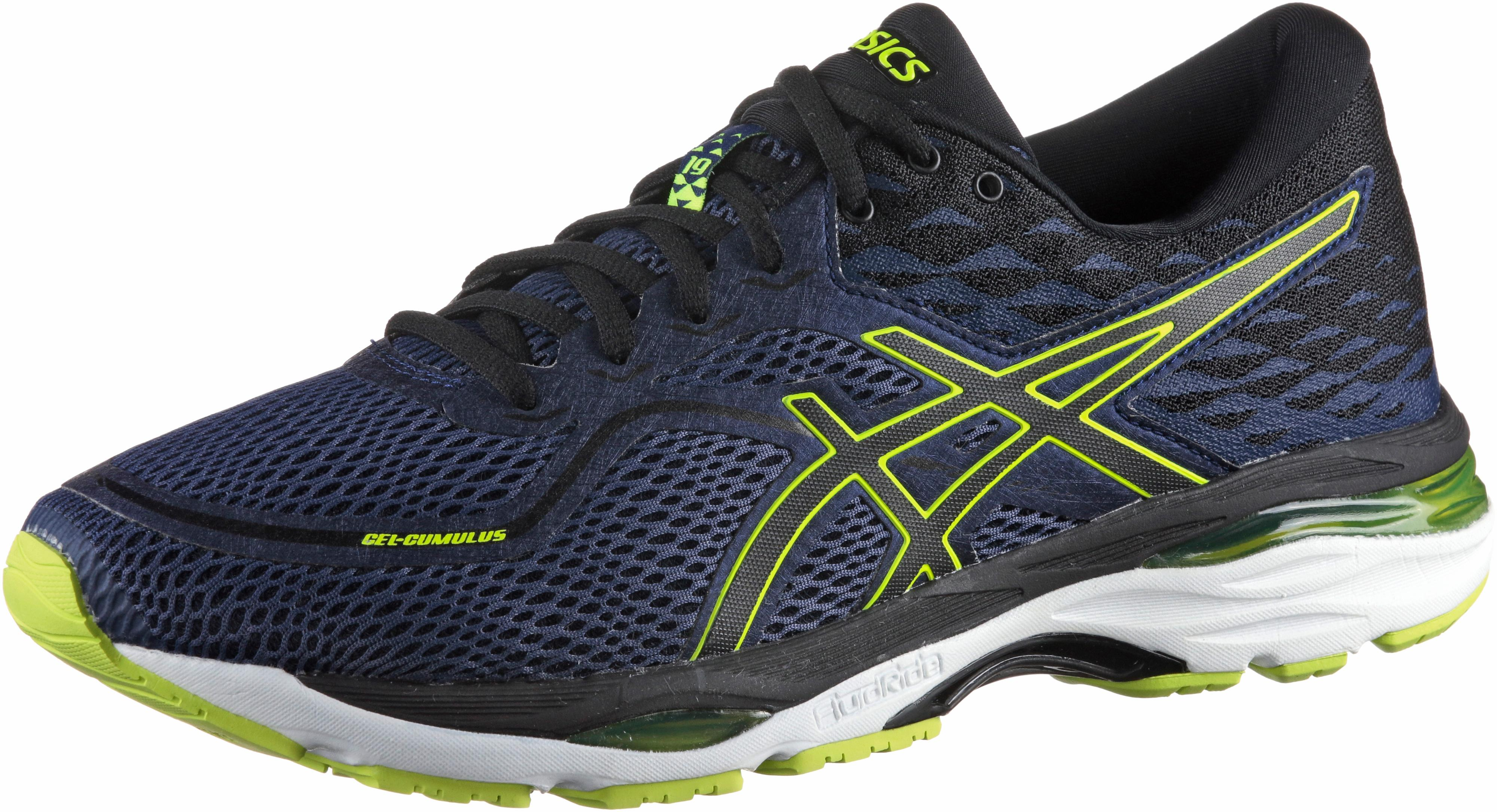 ASICS GEL-CUMULUS 19 Laufschuhe Herren indigo blue-black-safety yellow im  Online Shop von SportScheck kaufen