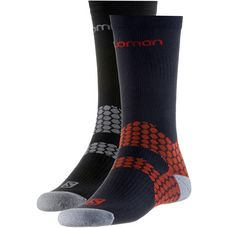 Salomon Nordic EXO Doppelpack Sportsocken black-grey + black red