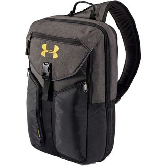 Under Armour Compel Sling 2.0 Umhängetasche black-full-heather-black-gold-rush