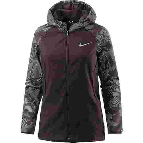 Nike Flash Essential Laufjacke Damen port wine