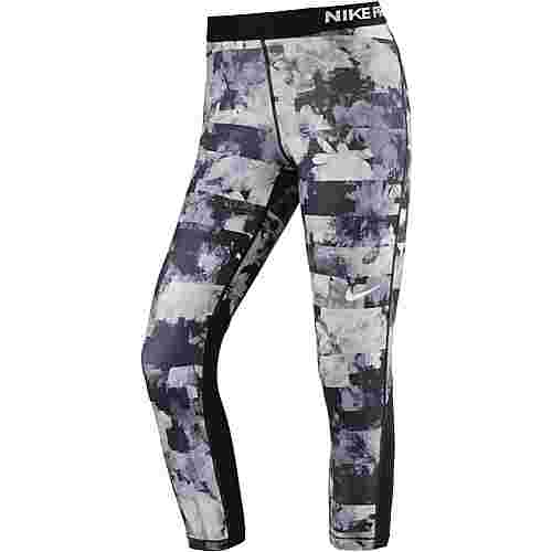 Nike Pro Dry Fit Tights Damen black-white