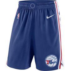 Nike PHILADELPHIA 76ERS Shorts Herren RUSH BLUE/WHITE/UNIVERSITY RED/WHITE