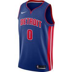 Nike ANDRE DRUMMOND DETROIT PISTONS Basketball Trikot Herren RUSH BLUE/UNIVERSITY RED