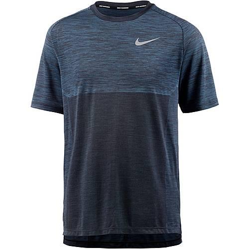 Nike Dry Medalist Laufshirt Herren blue-forceblack-reflective-silv