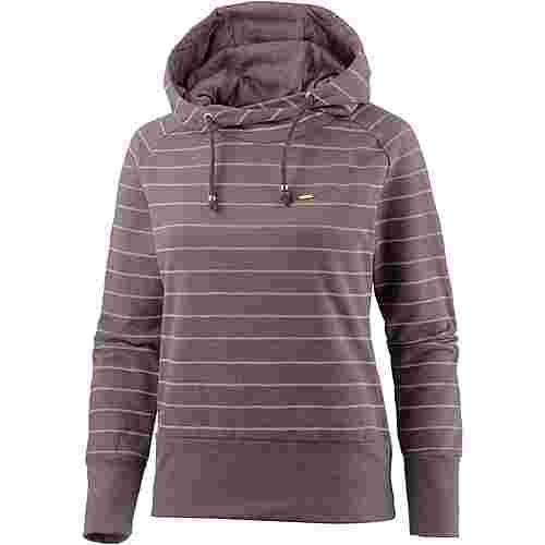 Mazine Hoodie Damen lilac melange offwhite stripes
