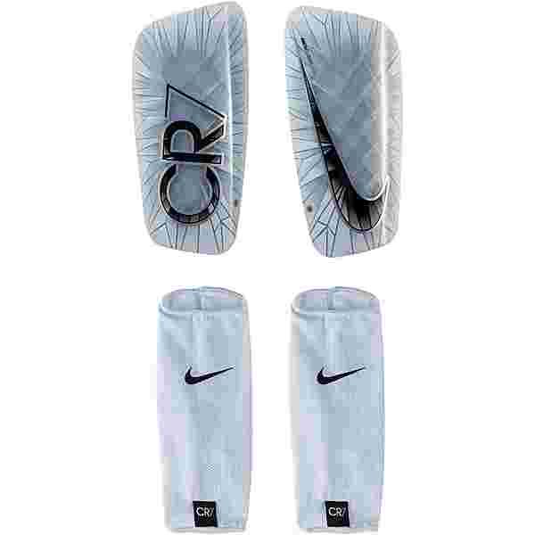 Nike CR7 Schienbeinschoner white-black-blue tint