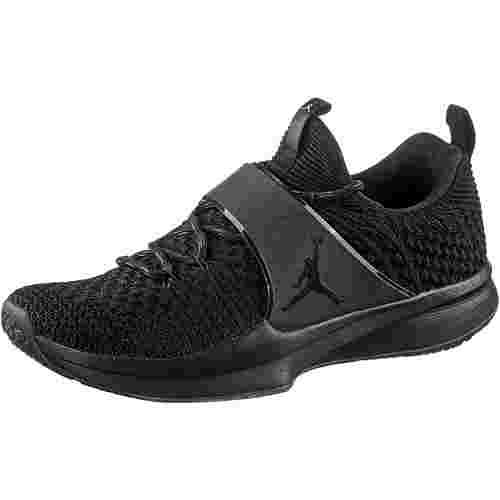 Nike JORDAN TRAINER 2 FLYKNIT Fitnessschuhe Herren black-black-metallic silver