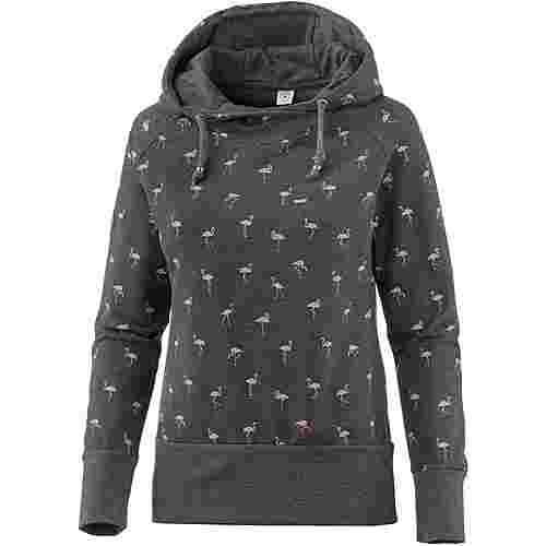 Mazine Hoodie Damen black melange blush flamingos