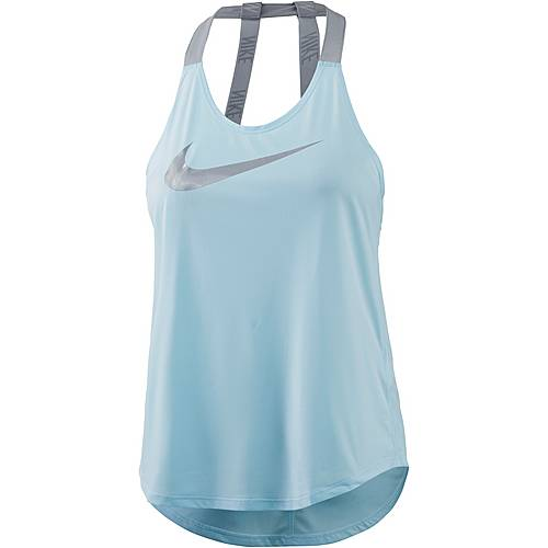 Nike Breathe Elastika Tanktop Damen glacier blue-wolf grey-metallic silver