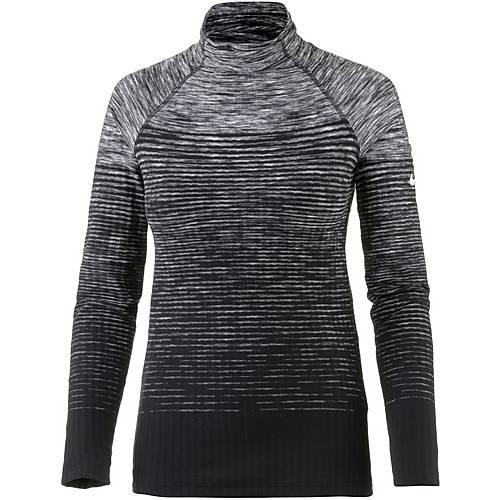 Nike Pro Hyperwarm Langarmshirt Damen dark grey-white
