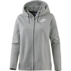 Nike Advanced Sweatjacke Damen dark grey heather-white