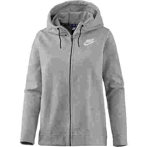 Nike Advanced Sweatjacke Damen dark grey heather-white