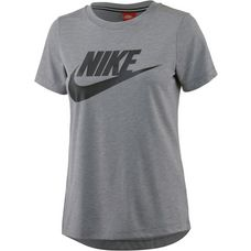 Nike Essential High Brand Read T-Shirt Damen carbon heather-anthracite-black
