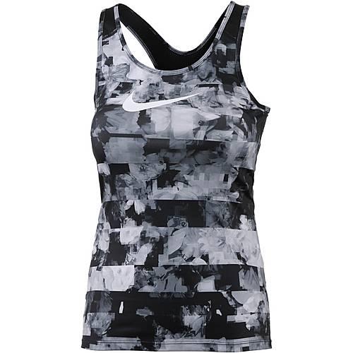Nike Pro Dry Fit Tanktop Damen wolf grey-white