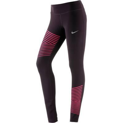Nike Power Flash Epic Run Lauftights Damen port wine