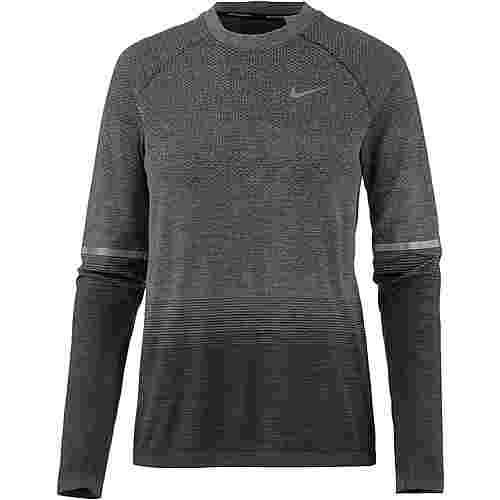 Nike Dryfit Knit Laufshirt Damen anthracite-wolf grey-dark grey