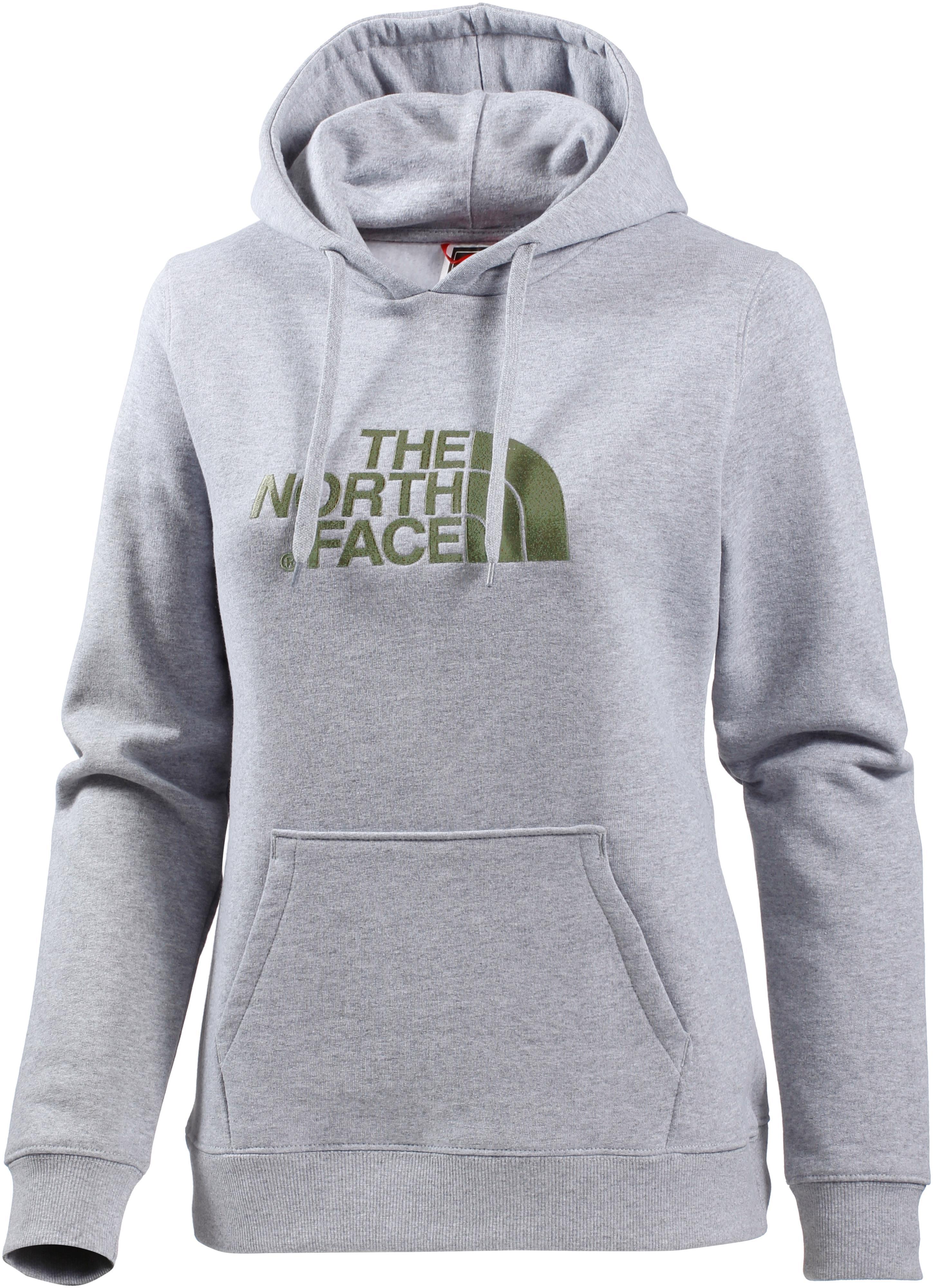 ce94069e4a The North Face Drew Peak Hoodie Damen light grey heather-deep lichen green  im Online Shop von SportScheck kaufen