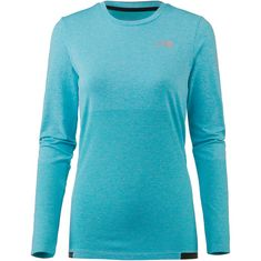 The North Face Summit L1 Funktionsshirt Damen bluebird heather-tnf black
