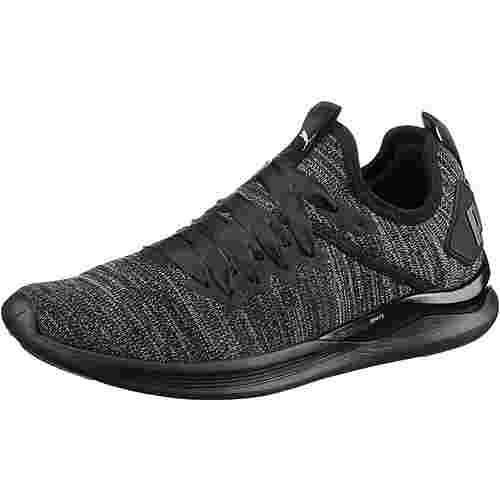 PUMA IGNITE Flash evoKNIT Satin Fitnessschuhe Damen puma black-periscope-metallic beige