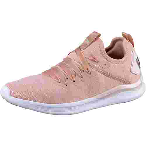 PUMA IGNITE Flash evoKNIT Satin Fitnessschuhe Damen peach beige-pearl-puma white