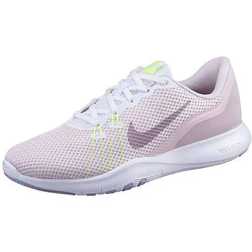 Nike Flex Trainer 7 Fitnessschuhe Damen white-elemental rose-barely rose