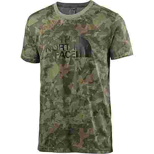 The North Face Easy T-Shirt Herren english green camo print