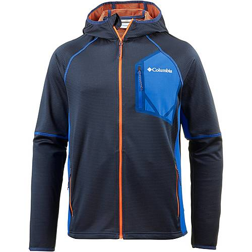 Columbia Triple Canyon Fleecehoodie Herren carbon-super blue-heatwave