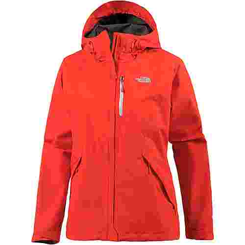 The North Face Dryzzle Hardshelljacke Damen fire brick red-high rise grey