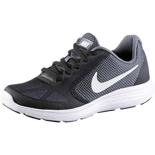 Nike Revolution 3 Laufschuhe Kinder dark-grey-white-black