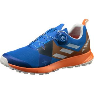 adidas Two Boa Mountain Running Schuhe Herren blue beauty-grey one-orange
